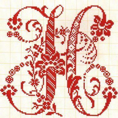 Filomena Crochet e Outros Lavores: - Monogramas H