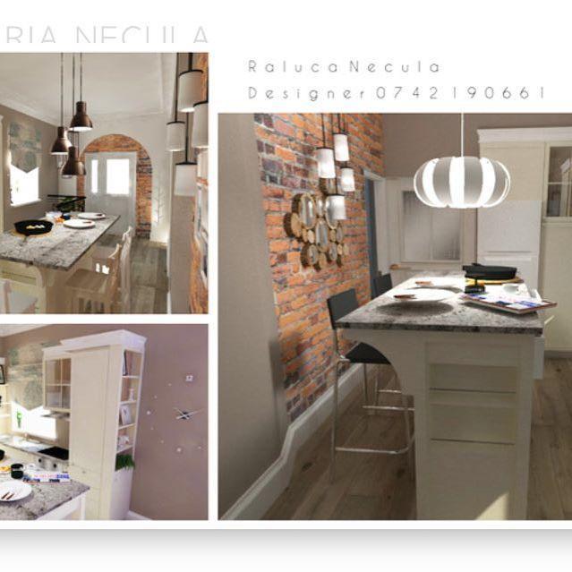 Parca atmofera este placuta: bucatarie in casa _____________________________________________  #brasov #designinterior #classy #interior #design #play  #3D #positive #kitchen #bucatarie #colors #white #bricks #classic #modern #furnituredesign NECULA RALUCA MARIA DESIGNER INTERIOR BRASOV RALU.NEC@GMAIL.COM