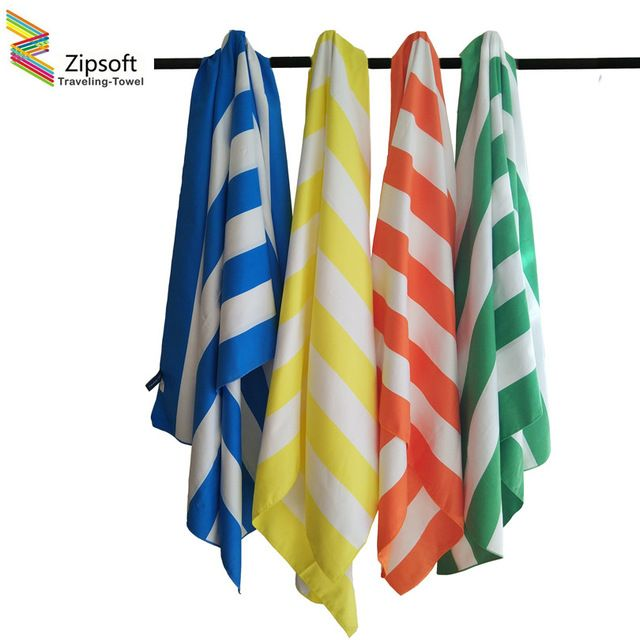 Discount $19.49, Buy Zipsoft Large Beach Towel 85*200cm Microfiber Striped towels Quick Dry Travel Towel Lightweight & Compact Yoga mat Bath Mat 2017
