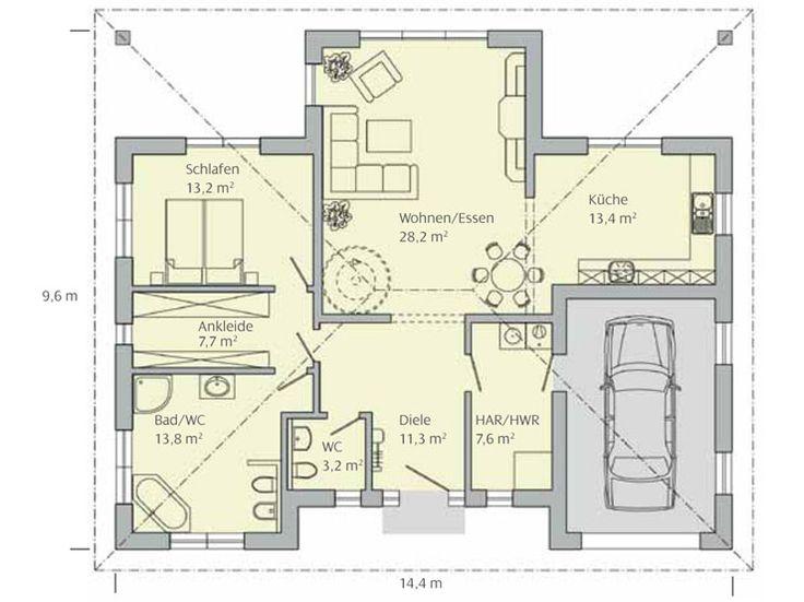 Bildergebnis für bungalow grundrisse mit garage rechts