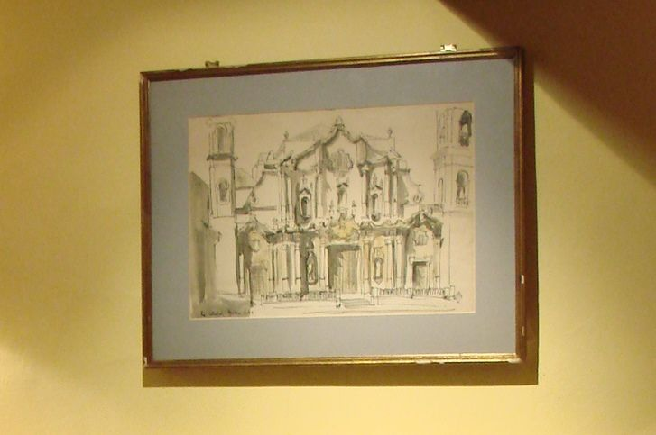 Teddy Millington-Drake's drawing of Havana Cathedral