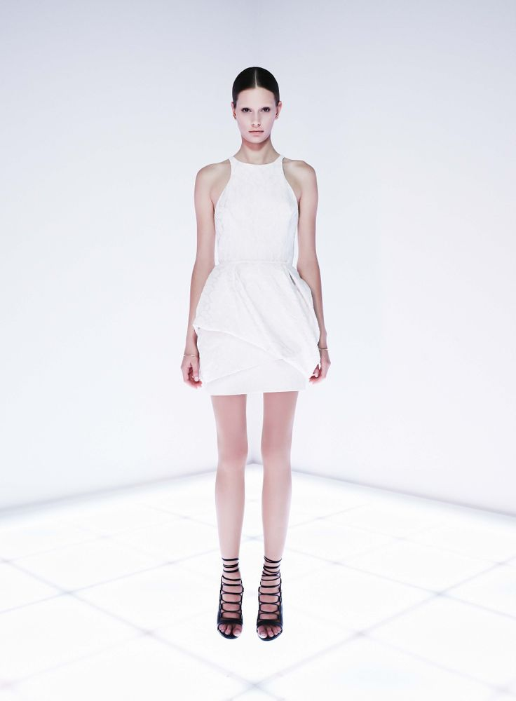 Interlace Dress by CAMILLA AND MARC http://www.camillaandmarc.com/interlace-dress-white-w-ivory.html