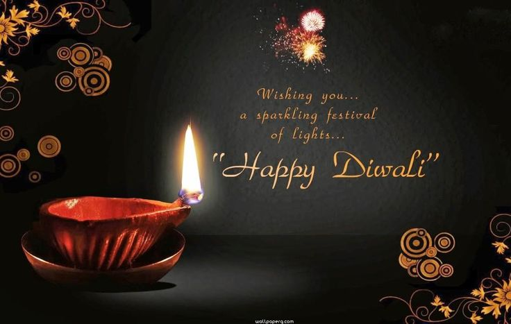 Happy diwali wishing quote image