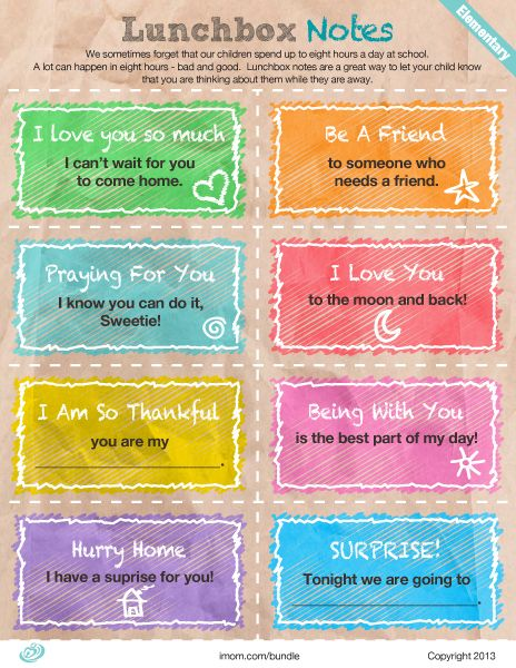 Lunchbox notes are a great way to let your child know that you are thinking about them while they are away. Check out these elementary lunchbox notes for your kids. #lunchboxnotes #printable