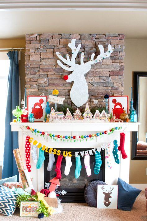 94 best Christmas Mantel Inspiration images on Pinterest