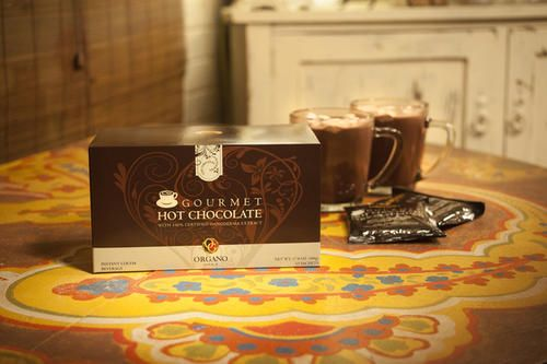 Buy Organo Gold Gourmet Hot Chocolate (Cocoa) With Ganoderma Lucidum - 1 box (15 sachets) - Net Wt. 480g for R5.00