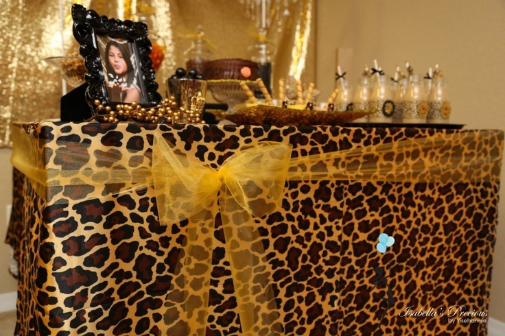 Birthday Decorations Leopard Image Inspiration of Cake and