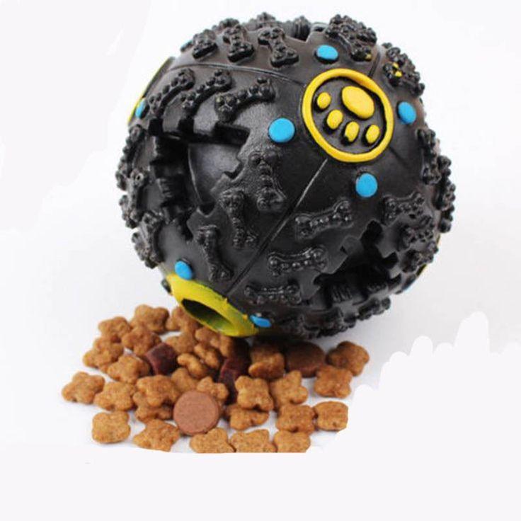 Trumpet Sound Leakage Food Ball - Dog tTeething Toy -  Teeth Bite Resistant