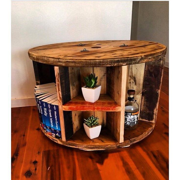 Our Cable Reel Bookshelf Coffee Tables Recycle Recycled