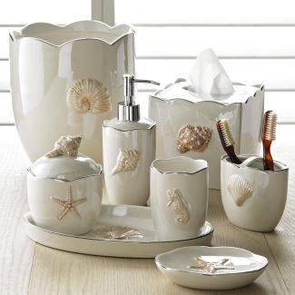 Mare Shells Accessories by Kassatex, Cotton Jar