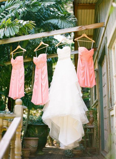 Beautiful dress shot using an old clothes line!