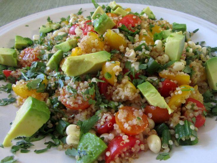 Chourico and Quinoa Salad (Salada de Quinoa com Chourico) - Easy Portuguese Recipes