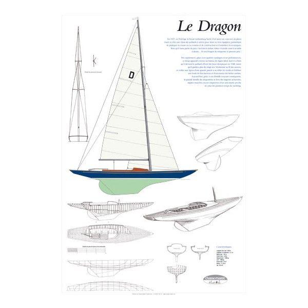 Le Dragon, plan de modélisme | Ce sloup, conçu par le norvégien Johan Anker, est rapidement apparu comme le bateau de régate idéal, au point de devenir quillard officiel des Jeux olympiques en 1948, statut qu'il gardera plus de vingt ans | A retrouver sur : http://www.chasse-maree.com/modelisme/4153-plan-de-modelisme-dragon.html