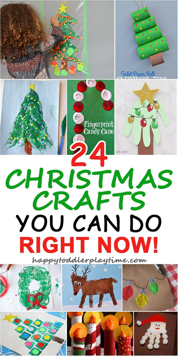 24 CHRISTMAS CRAFTS YOU CAN DO RIGHT NOW – HAPPY TODDLER PLAYTIME