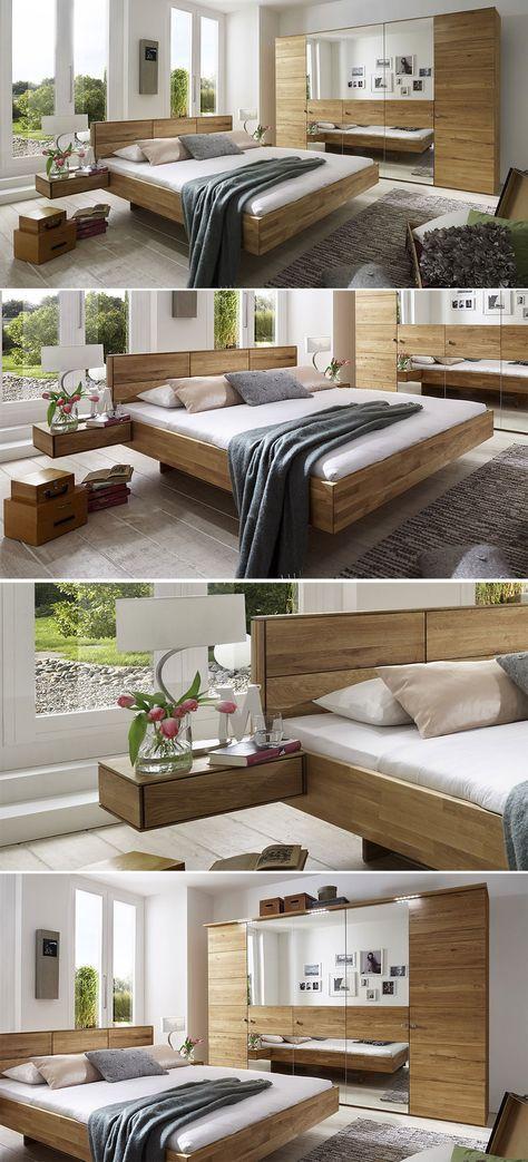 Mediterranes Schlafzimmer aus massivem Holz Bettende - komplett schlafzimmer mit matratze und lattenrost