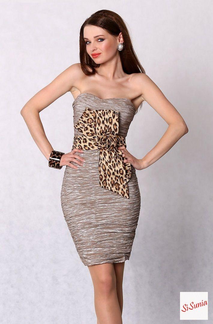 Sukienka panterka z kokardą TYLKO 74,99 gr ZAPRASZAM NA facebook'a SiSunia shop
