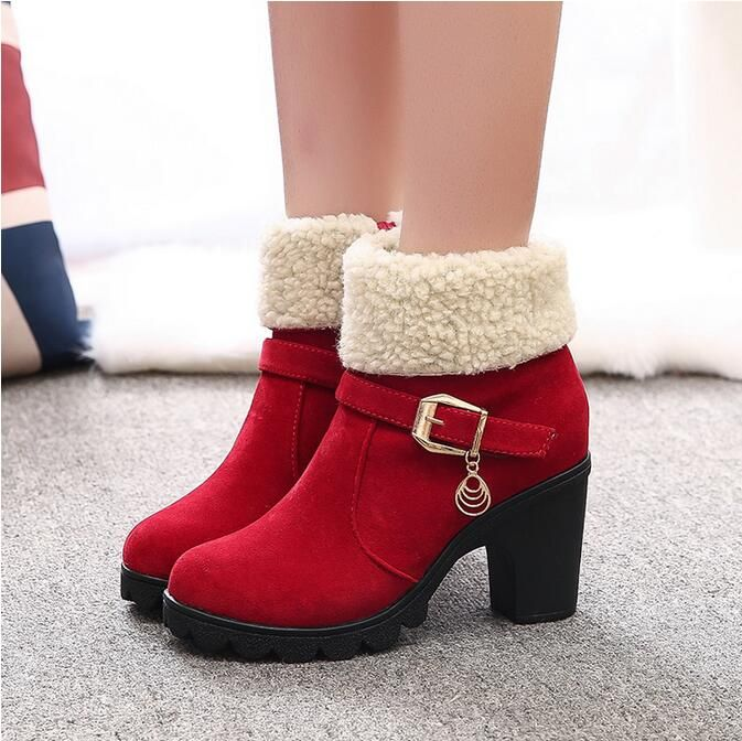 2 Style 2016 New botas Autumn Winter warm Women Boots High Quality European Ladies Suede Leather Fashion High heels Boots F089 #>=#>=#>=#>=#> Click on the pin to check out discount price, color, size, shipping, etc. Save and like it!