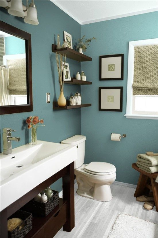 bathroom paint inspiration - Bathroom Decorating Ideas Blue Walls