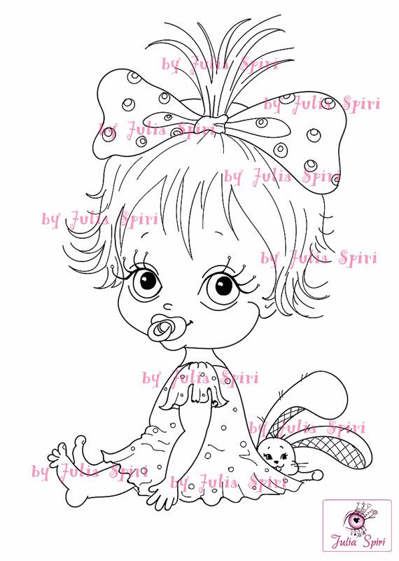 Digi Stamps, Scrapbooking printable, Digital stamp, Baby stamps, Babies, Baby Girl, Child, Girl. The Baby Collection. It's a Girl!
