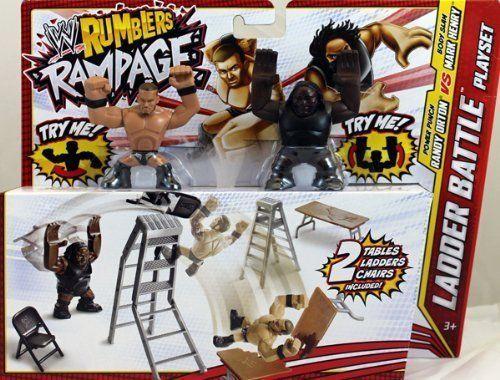 WWE Rumblers Rampage Randy Orton and Mark Henry Ladder Battle Playset NIP - http://bestsellerlist.co.uk/wwe-rumblers-rampage-randy-orton-and-mark-henry-ladder-battle-playset-nip/