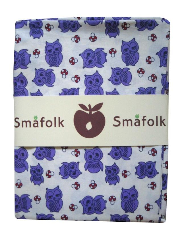 [DK]Creme farvet sengetøj med lilla ugler fra Småfolk.   [EN]Småfolk bedlinen in creme color with purple owls