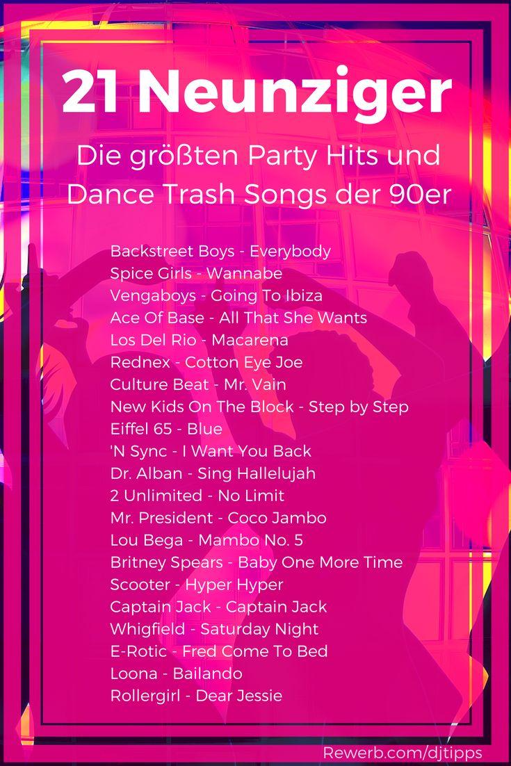 21 Party Hits der 90er Jahre - Liste der größten Dance Trash Songs #90er #90s #Neunziger #Trash
