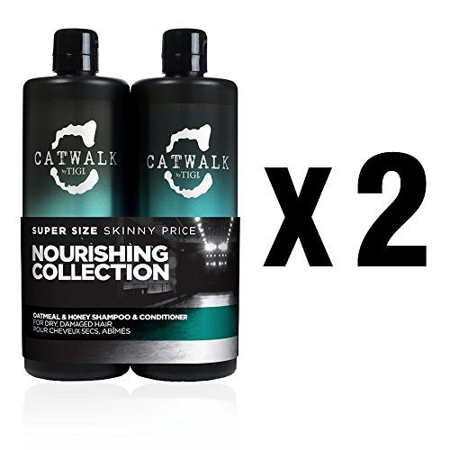Bundle - 4 items: Tigi Catwalk Oatmeal and Honey Shampoo and Conditioner Double Duo - 25.36 Oz Each >>> Check out this great product.
