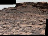 Cluster of Martian Mesas on Lower Mount Sharp, Sols 1438 and 1439