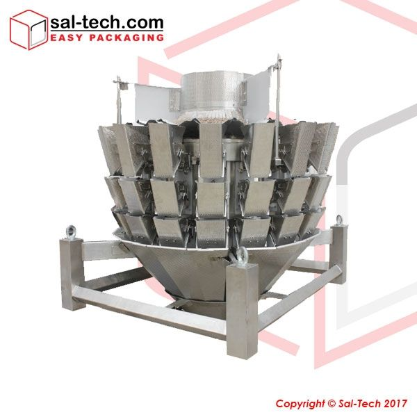 The STEP 16 Multihead Weigher with 2 liters Memory Bucket is engineered innovatively with a complete stainless steel housing actuator for hygiene request. This is equipped with a triple layer hopper, hanging actuator unit, camera, network service, and USB upgrade so to enhance production in the manufacturing plant.