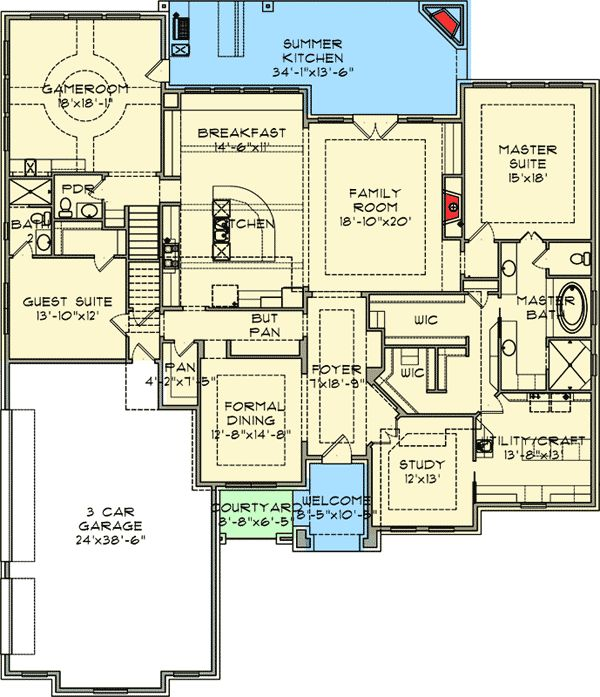 Luxury house plans with butlers pantry for House plans with walk in pantry