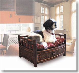 Tropical Island Bamboo Cat and Dog Bed