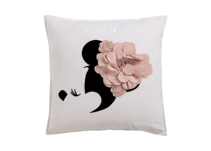 Floral Flourish Pillow, Petal Chic Disney home decor Minnie Mouse pillow