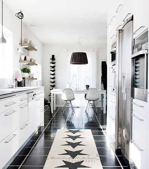 Stunning, modern kitchen. Could easily add pops of colour to give it a bit more life.