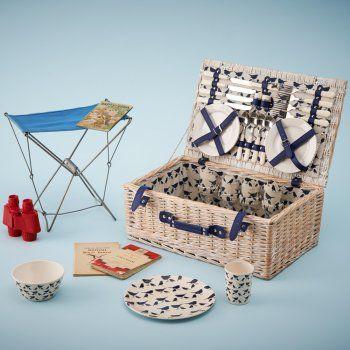 Anorak Kissing Robins Picnic Hamper - we love these picnic hampers.