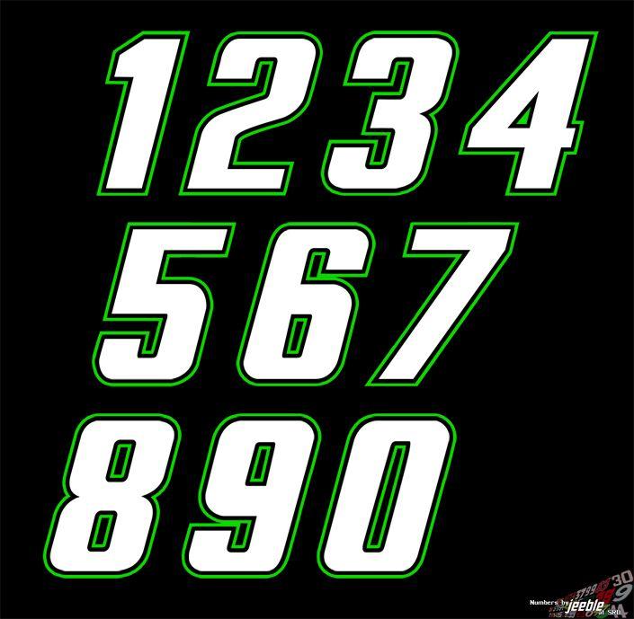 Pin Em Number Fonts