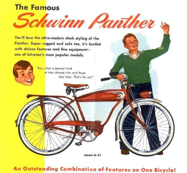 Bicycles Panther Schwinn 1950