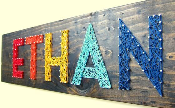Personalized Modern String Art Name Tablets