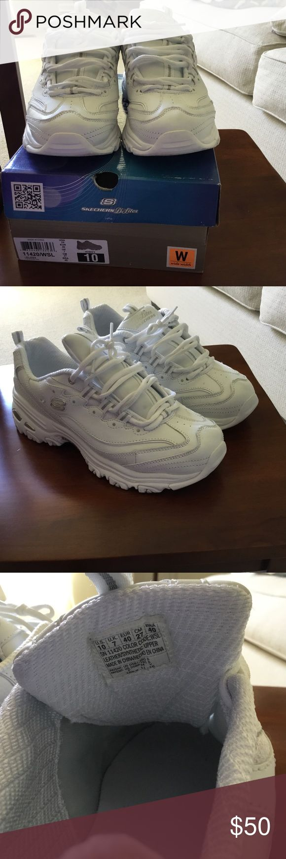 Skechers D'lites - Size 10 wide width Only worn once. Size 10 wide width. Skechers Shoes Athletic Shoes