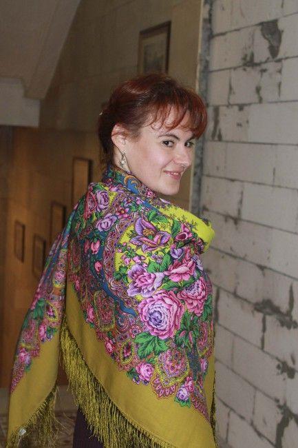 Медовый полдень павловопосадский платок