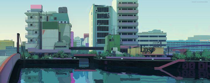 """saveroomminibar: """" The Art of Vasili Zorin. Concept Artist for Sunset Overdrive. Check out Vasili's Tumblr. """""""