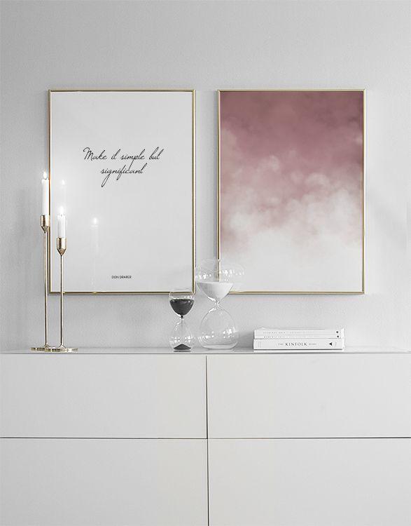 Roze posters en prints