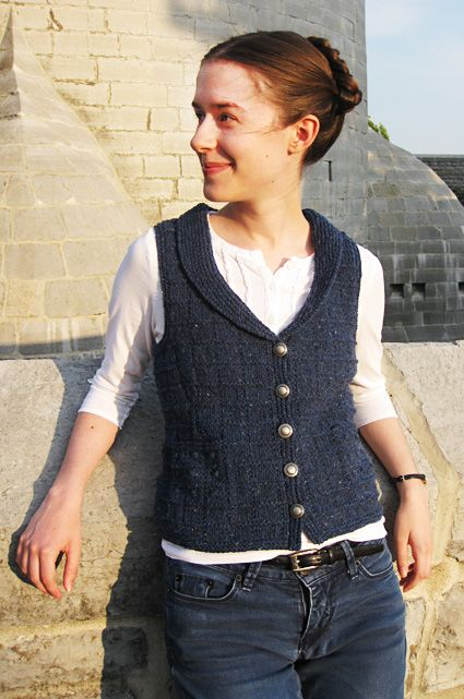 I'm not a vest person, but this is exceptional!  Check out Knitty for the pattern....