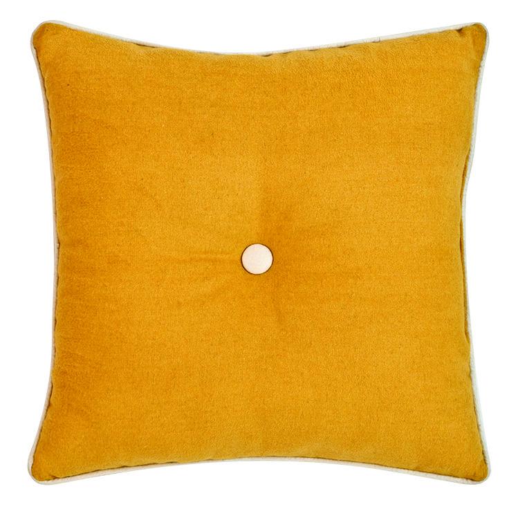 Harrison Mustard Cushion #ikat #notions #decor