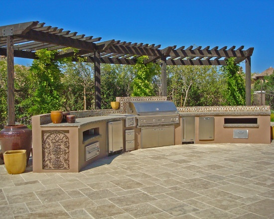 Mediterranean Spaces Outdoors Kitchen Design, Pictures, Remodel, Decor and Ideas - page 2