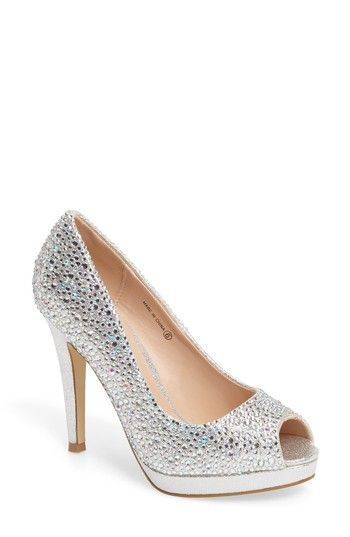 Free shipping and returns on pink paradox london Cassidy Platform Pump (Women) at Nordstrom.com. Raindrop crystals catch the light on an event-ready peep-toe pump lifted by a shimmery metallic heel and platform.