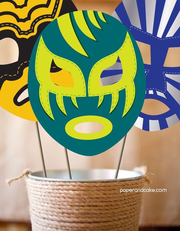 Lucha Libre Printable Photo Booth Props