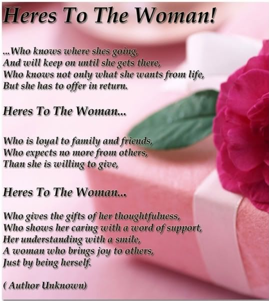 Today is your day Women! Happy Women's Day!