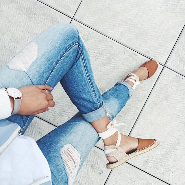 soludos espadrilles, ripped jeans @lowstoluxe