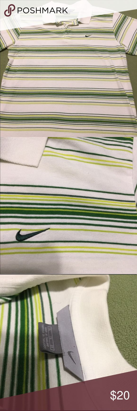 Nike Polo shirt. Green/ White. XL UEC Nike Polo shirt. Green/ White. XL UEC Nike Shirts Polos