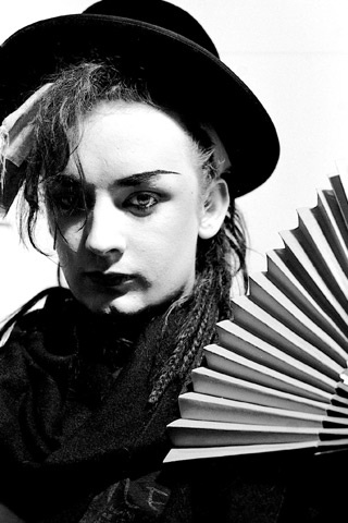 Boy George. I loved his smock and rasta camp individualism... I was 14, a girl and wanted to be him.